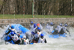 Cabanos Bratislava of Slovakia vs BVS Raft Team of Slovakia at Euro Cup 2009 R6 Rafting in TT & H2H and Slovenian National Championship 2009, on April 4, 2009, in Tacen, Ljubljana, Slovenia. (Photo by Vid Ponikvar / Sportida)