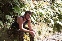 mr franz josef 2015 glamour photography tarzan portraits corormandel photography felicity jean photography model jason mcbride in the rainforest on the west coast south island
