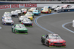 September 30, 2018 - Charlotte, NC, U.S. - CHARLOTTE, NC - SEPTEMBER 30:  #41: Kurt Busch, Stewart-Haas Racing, Ford Fusion Haas Automation/Monster Energy leads the racers during the Monster Energy NASCAR Cup Series Playoff Race Bank of America ROVAL 400 on September 30, 2018, at Charlotte Motor Speedway in Concord, NC. (Photo by Jaylynn Nash/Icon Sportswire) (Credit Image: © Jaylynn Nash/Icon SMI via ZUMA Press)