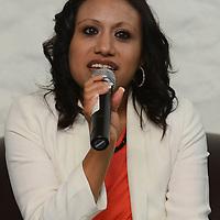 """Toluca, México.- Ruth Salinas Reyes, Secretaria de Mujeres Jovenes en Moviento, durante la inauguracion del ciclo de conferencias """"Mujeres Jóvenes en Movimiento, Exito y Abundancia. Agencia MVT / Arturo Hernández."""