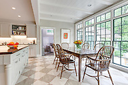 Stamford home, kitchen. Interior design by Jeffrey Kilmer Design.