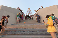 First order of business on these stairs, let's see how the slinky does! My Burning Man 2018 Photos:<br />