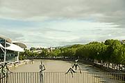 Georgia, Tbilisi, view of the city and Kura (Mtkvari) river from a bridge