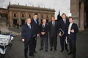 Roma, 31 ottobre 2008<br /> Italia Mondiali 2014 incontro con i vertici Fiba in Campidoglio con il Sindaco Alemanno