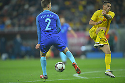 November 14, 2017 - Bucharest, Romania - JoÃ«l Veltman (Ned) vies Nicolae Stanciu (Rom) during International Friendly match between Romania and Netherlands at National Arena Stadium in Bucharest, Romania, on 14 november 2017. (Credit Image: © Alex Nicodim/NurPhoto via ZUMA Press)