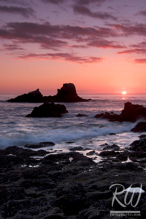 Laguna Beach Tide Pool at Sunset, California