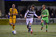 Forest Green Rovers Forward, Christian Doidge (9) scores to make it 0-2 during the Vanarama National League match between Sutton United and Forest Green Rovers at Gander Green Lane, Sutton, United Kingdom on 14 March 2017. Photo by Adam Rivers.