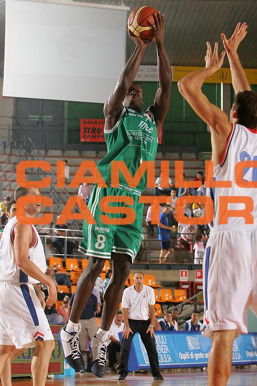 DESCRIZIONE : Udine Memorial Rino Snaidero Precampionato Lega A1 2006-07 Benetton Treviso Cibona Zagabria <br /> GIOCATORE : George <br /> SQUADRA : Benetton Treviso <br /> EVENTO : Memorial Rino Snaidero Precampionato Lega A1 2006-2007 <br /> GARA : Benetton Treviso Cibona Zagabria <br /> DATA : 24/09/2006 <br /> CATEGORIA : Tiro <br /> SPORT : Pallacanestro <br /> AUTORE : Agenzia Ciamillo-Castoria/S.Silvestri <br /> Galleria : Lega Basket A1 2006-2007 <br /> Fotonotizia : Udine Memorial Rino Snaidero Precampionato Italiano Lega A1 2006-2007 Benetton Treviso Cibona Zagabria <br /> Predefinita :