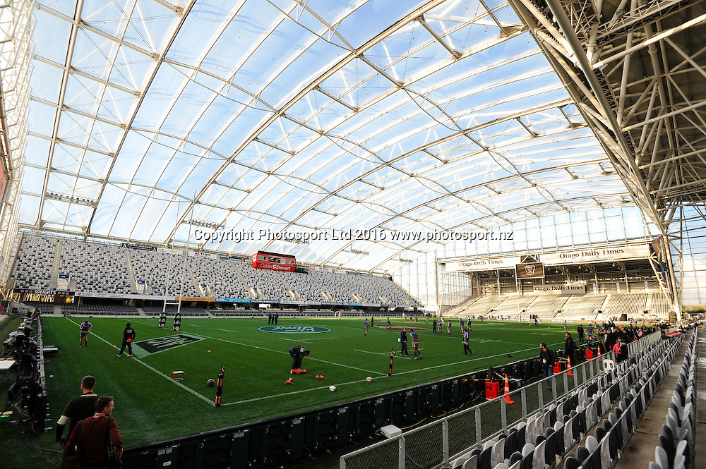 General view during the All Blacks Captains run at Forsyth Barr Stadium, Dunedin, New Zealand. 24th June 2016. Copyright Photo: John Davidson / www.photosport.nz