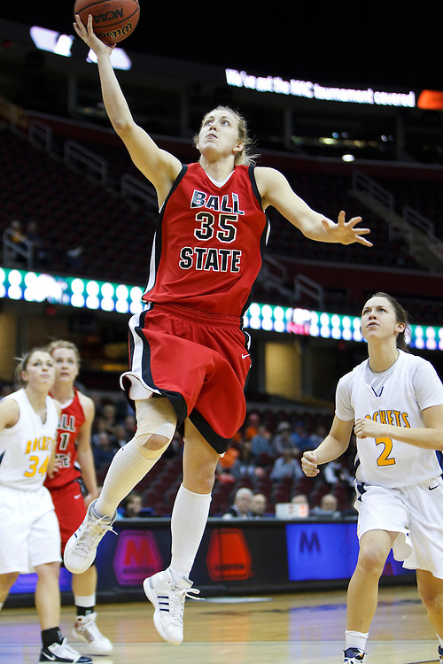 13 March 2010:   Ball State's Danielle Gratton (35) during the MAC Tournament game basketball game between Ball State and Toledo and  at Quicken Loans Arena in Cleveland, Ohio.