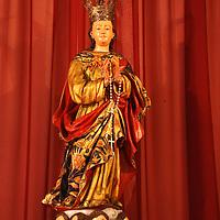 Imagen de la Inmaculada Concepción, conocida como la Virgen vencedora y patrona de la Academia Militar de Venezuela, en la iglesia de Nuestra Señora de la Candelaria, La Victoria, Edo. Aragua. Venezuela. La Victoria, Julio, 15 del 2010. Jimmy Villalta