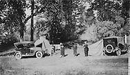 Automobile camping trip circa 1930s.