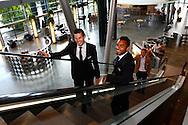 01-09-2015 VOETBAL:SPELERSPRESENTATIE WILLEM II:INTERPOLIS:TILBURG<br /> <br /> Dries Wuytens  van Willem II (L) en Funso Ojo van Willem II (R)<br /> <br /> Foto: Geert van Erven