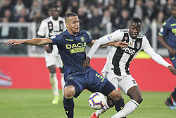 March 8, 2019 - Turin, Piedmont, Italy - Blaise Matuidi (Juventus FC) and William Ekong (Udinese Calcio) during the Serie A football match between Juventus FC and Udinese Calcio at Allianz Stadium on March 08, 2019 in Turin, Italy..Juventus won 4-1 over Udinese. (Credit Image: © Massimiliano Ferraro/NurPhoto via ZUMA Press)