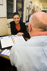 Personal Group Sales staff at work in industrial environment 16th February 2010..Images Copyright Paul David Drabble