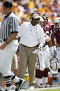 Baton Rouge, LA - SEPTEMBER 30:  Head Coach Sylvester Croom of the Mississippi State Bulldogs against the LSU Tigers at Tiger Stadium on September 30, 2006 in Baton Rouge, Louisiana.  The Tigers defeated the Bulldogs 48 - 17.  (Photo by Wesley Hitt/Getty Images) *** Local Caption *** Sylvester Croom
