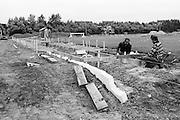 Den Haag 20-06-1977<br /> IJscentrum de Uithof<br /> De atletiekbaan van HAAG Atletiek wordt gerenoveerd<br /> <br /> © Ronald Speijer