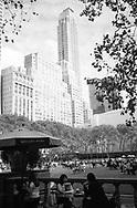 Lunch time at Bryant Park, New York City.