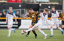 Alloa Athletic's Darren Young and Falkirk's Blair Alston.<br /> half time : Alloa Athletic 0 v 0 Falkirk, Scottish Championship game played today at Alloa Athletic's home ground, Recreation Park.<br /> &copy; Michael Schofield.