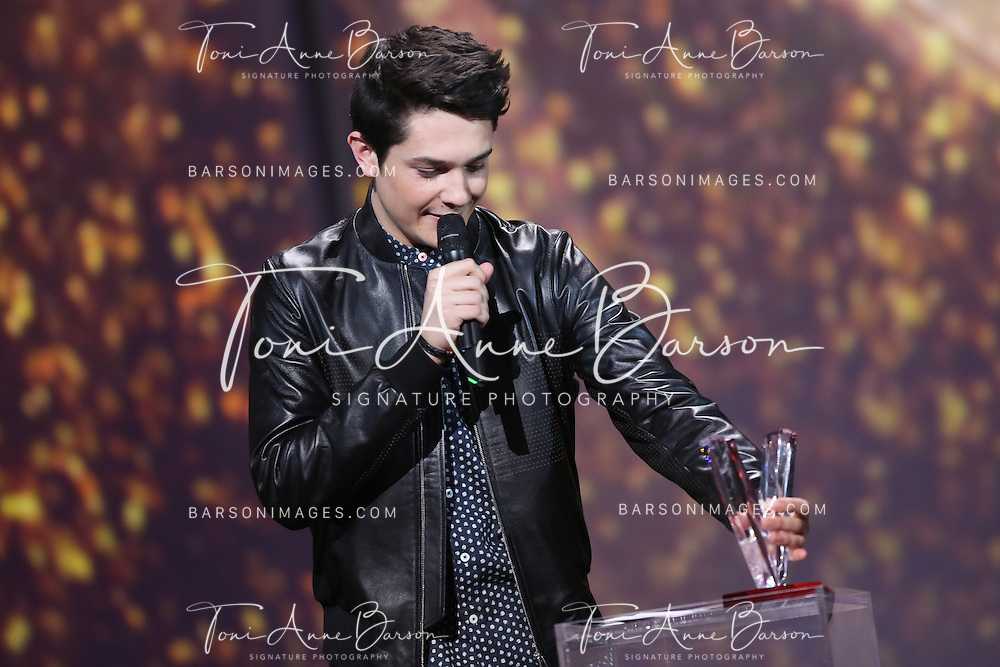 "PARIS, FRANCE - FEBRUARY 10:  DJ Kungs AKA Valentin Brunel receives awards during the ""32nd Victoires de la Musique 2017"" at Le Zenith on February 10, 2017 in Paris, France.  (Photo by Tony Barson/FilmMagic)"