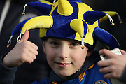 Young Shrewsbury Town fan during the The FA Cup fourth round match between Shrewsbury Town and Wolverhampton Wanderers at Greenhous Meadow, Shrewsbury, England on 26 January 2019.