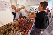 Sylt, Germany. Hörnum. 25th Hafenfest (Harbor Festival). Italian Salamis.