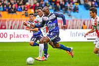Henri BIENVENU NTSAMA - 10.01.2014 - Troyes / Brest - 19e journee Ligue 2<br /> Photo : Dave Winter / Icon Sport