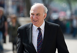 © London News Pictures. 22/05/2011. London, UK.   Business Secretary Vince Cable arriving at the cabinet office on Whitehall on May 22, 2012 for a cabinet meeting. Photo credit: Ben Cawthra/LNP
