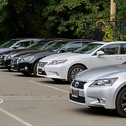 August 21, 2014, New Haven, CT:<br /> Lexus cars are shown in the tournament transportation lot on day seven of the 2014 Connecticut Open at the Yale University Tennis Center in New Haven, Connecticut Thursday, August 21, 2014.<br /> (Photo by Billie Weiss/Connecticut Open)