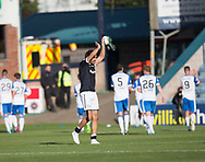 16th September 2017, Dens Park, Dundee, Scotland; Scottish Premier League football, Dundee versus St Johnstone; Dundee's Sofien Moussa applauds the fans at the end