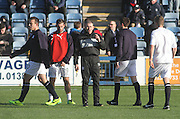 Dundee fitness and conditioning coach Tom Ritchie puts the players through their paces - Queen of South v Dundee, SPFL Championship at Palmerston Park <br />