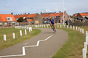 Cycle path Ter Heijde village Holland