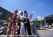 Patriots on Stilts Entertain at Opening of Constitution Center, Philadelphia, PA