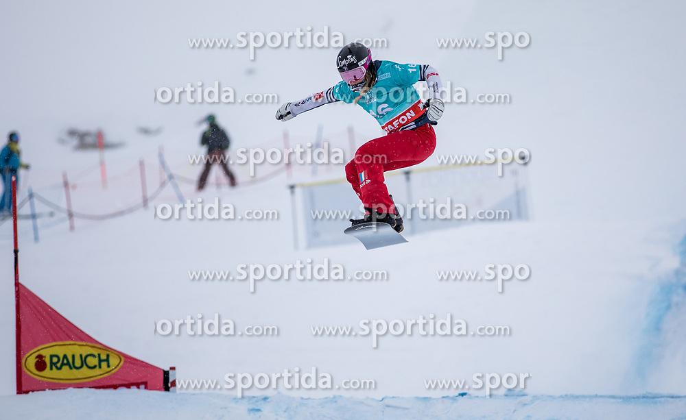 16.12.2012, Montafon Seebliga, Schruns, AUT, FIS Snowboard Cross Weltcup, Trainig, Damen, im Bild Manon Petit Lenior (FRA) // Manon Petit Lenior of France in action during lady's trainig round of the at the Montafon Seebliga course, Schruns, Austria on 2017/12/16. EXPA Pictures © 2012, PhotoCredit: EXPA/ Peter Rinderer