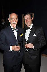 Left to right, ANTON MOSIMANN and his son PHILIP MOSIMANN at a cocktail party and auction to launch the forthcoming celebrations for Mikhail Gorbachev's 80th birthday held at Christie's, 8 King Street, London on 3rd February 2011.