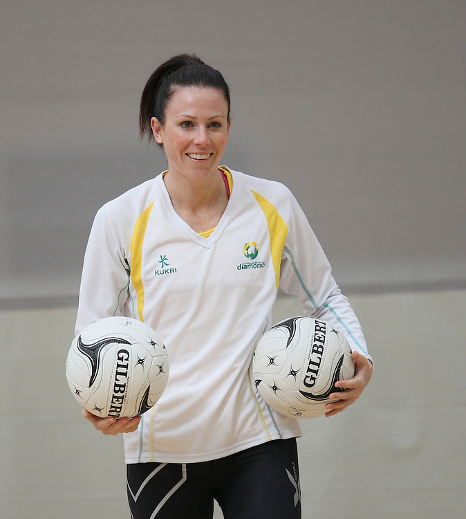 Australia's Natalie Von Bertouch at training for the New World Quad series netball match against England, TECT Arena, Tauranga, New Zealand, Saturday, October 27, 2012. Credit:SNPA / Dianne Manson.
