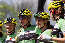 Kristabel Doebel-Hickok and her Cylance teammates presented to the people of Durango - Emakumeen Saria - Durango-Durango 2016. A 113km road race starting and finishing in Durango, Spain on 12th April 2016.