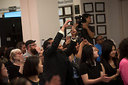 Members of community and ethnic media publications and associations from around the New York area gather for the 14th annual Ippies Awards hosted by the Center for Community and Ethnic Media at the CUNY Graduate School of Journalism in New York City, NY, on June 2,2016. Photo by Skyler Reid