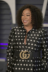 February 24, 2019 - Beverly Hills, California, U.S - Shonda Rhimes on the red carpet of the 2019 Vanity Fair Oscar Party held at the Wallis Annenberg Center in Beverly Hills, California on Sunday February 24, 2019. JAVIER ROJAS/PI (Credit Image: © Prensa Internacional via ZUMA Wire)