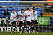 Bolton Wanderers celebrate Bolton Wanderers defender Robert Holding goal during the Sky Bet Championship match between Bolton Wanderers and Milton Keynes Dons at the Macron Stadium, Bolton, England on 23 January 2016. Photo by Simon Davies.