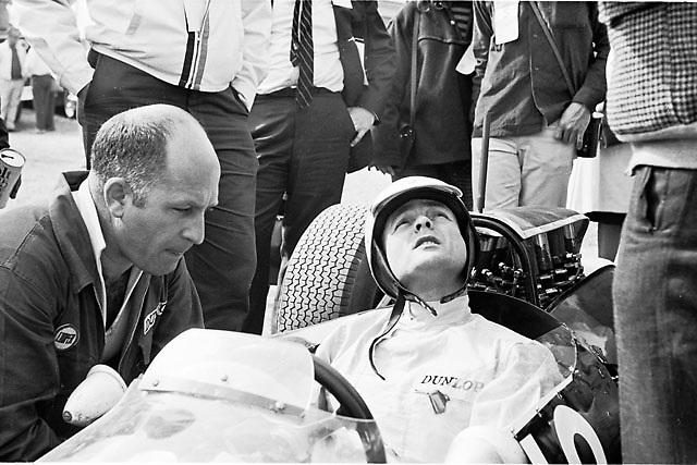 Phil Hill in Cooper 10 at 1964 USGP, Watkins Glen