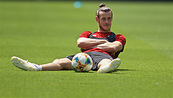 BUDAPEST, HUNGARY - Monday, June 10, 2019: Wales' captain Gareth Bale during a training session ahead of the UEFA Euro 2020 Qualifying Group E match between Hungary and Wales at the Ferencváros Stadion. (Pic by David Rawcliffe/Propaganda)