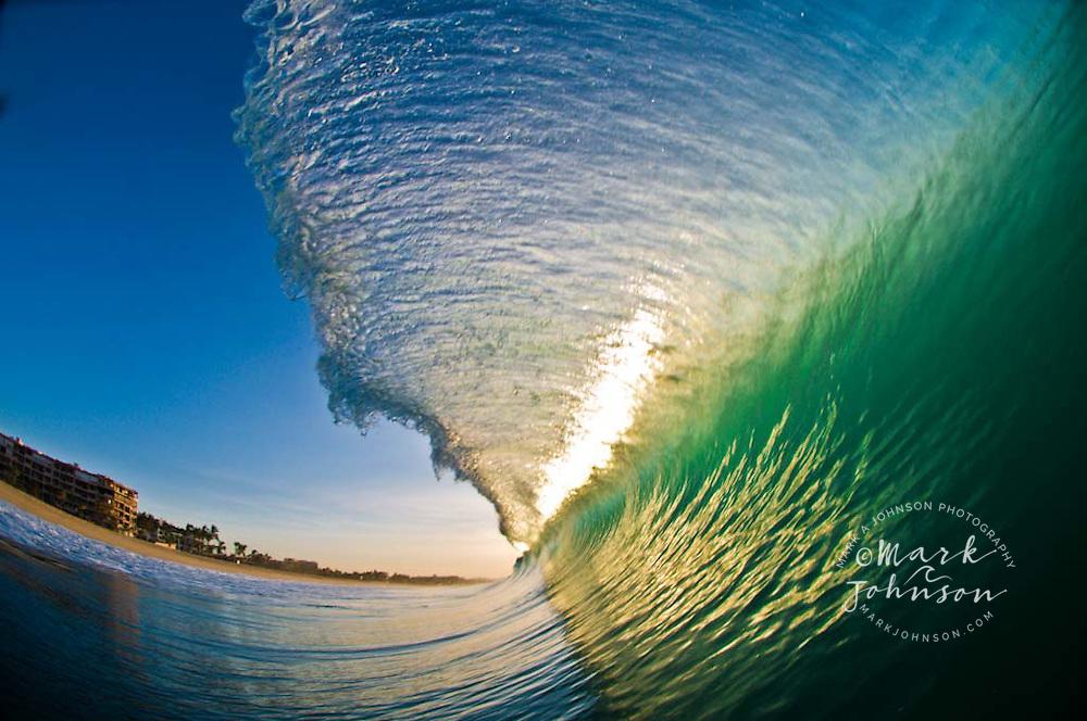 Breaking ocean wave, Baja California Sur, Mexico