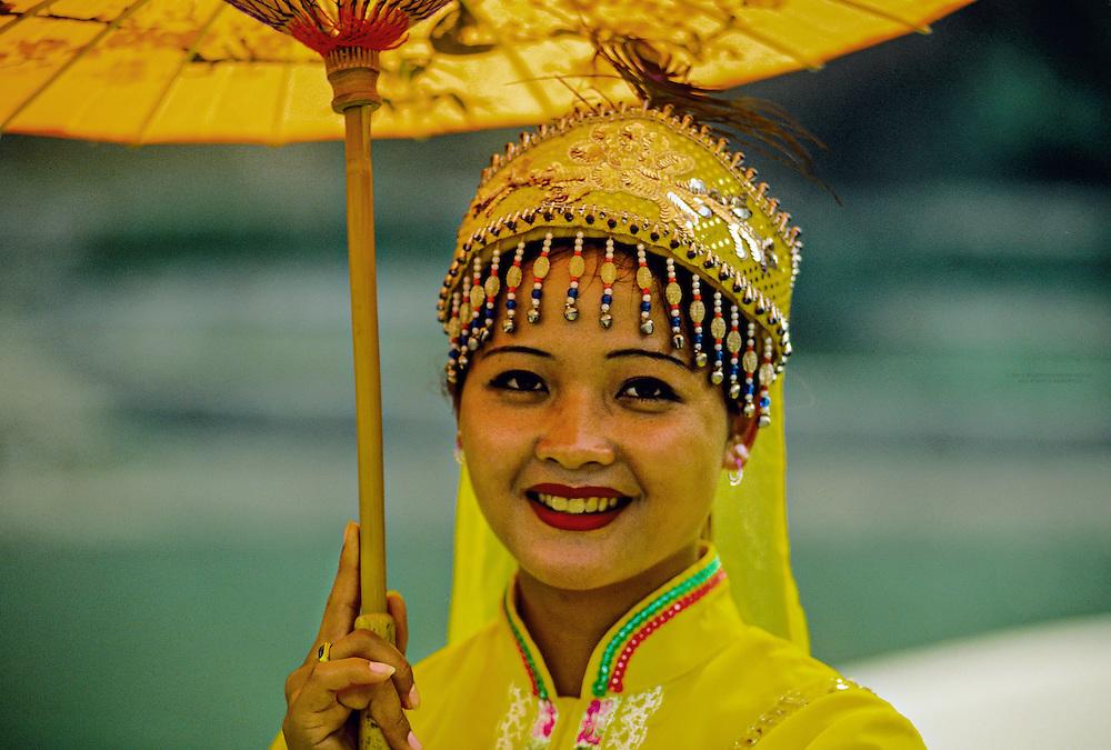 Women in native costume, Xiangbi Shan (Elephant Trunk Hill Park), Guilin, China