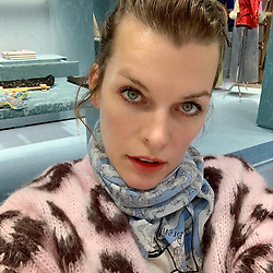 """Milla Jovovich releases a photo on Instagram with the following caption: """"From the dirt, mud and rain to... Paris! I\u2019m attending the @fencing_fie gala which I, as an avid sword enthusiast am so excited to experience and I also get to shop at my favorite @miumiu!!! Thank you @veesback for always making sure this bloody super hero can look like a lady! If you have keen eyes, you\u2019ll notice I\u2019m wearing an original scarf by @chrissbrenner, who\u2019s been making the most amazing fabric designs that I\u2019m dying over (you can\u2019t tell, but this one has a pic of @ambervalletta from a @versace show on it, so effin rad). So happy to have a fun, adult night out with my fabulous gusband!\ud83d\ude18 #fencing #miumiu #parisdiary"""". Photo Credit: Instagram *** No USA Distribution *** For Editorial Use Only *** Not to be Published in Books or Photo Books ***  Please note: Fees charged by the agency are for the agency's services only, and do not, nor are they intended to, convey to the user any ownership of Copyright or License in the material. The agency does not claim any ownership including but not limited to Copyright or License in the attached material. By publishing this material you expressly agree to indemnify and to hold the agency and its directors, shareholders and employees harmless from any loss, claims, damages, demands, expenses (including legal fees), or any causes of action or allegation against the agency arising out of or connected in any way with publication of the material."""