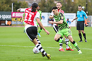 Forest Green Rovers Aaron Collins(10) runs forward during the EFL Sky Bet League 2 match between Exeter City and Forest Green Rovers at St James' Park, Exeter, England on 12 October 2019.