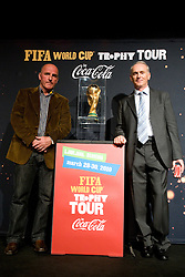 Best Slovenian all time football player Brane Oblak and general manager of BTC Joze Mermal at VIP reception of FIFA World Cup Trophy Tour by Coca-Cola, on March 29, 2010, in BTC City, Ljubljana, Slovenia.  (Photo by Vid Ponikvar / Sportida)