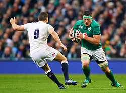 CJ Stander of Ireland in action against Ben Youngs of England - Mandatory by-line: Ken Sutton/JMP - 18/03/2017 - RUGBY - Aviva Stadium - Dublin,  - Ireland v England - RBS 6 Nations