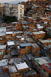 The hillside slums of 23 de Enero, a politically active neighborhhod in Caracas that has been traditionally Chavista.