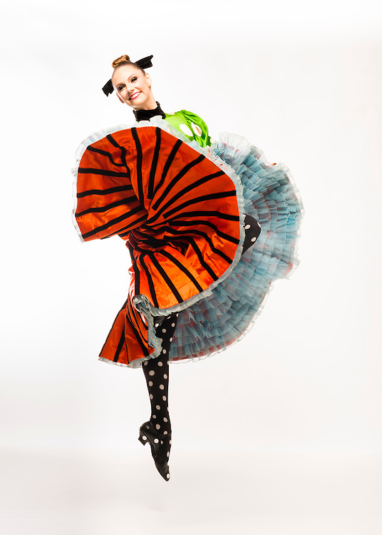 Caralin Curcio in costume by Christian LaCroix for Gaîté Parisienne for Boston Ballet